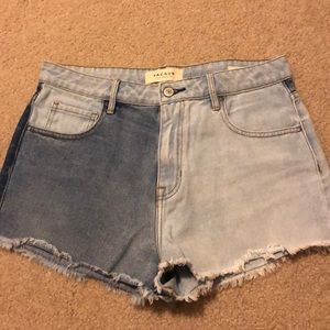 Pacsun high waisted denim shorts